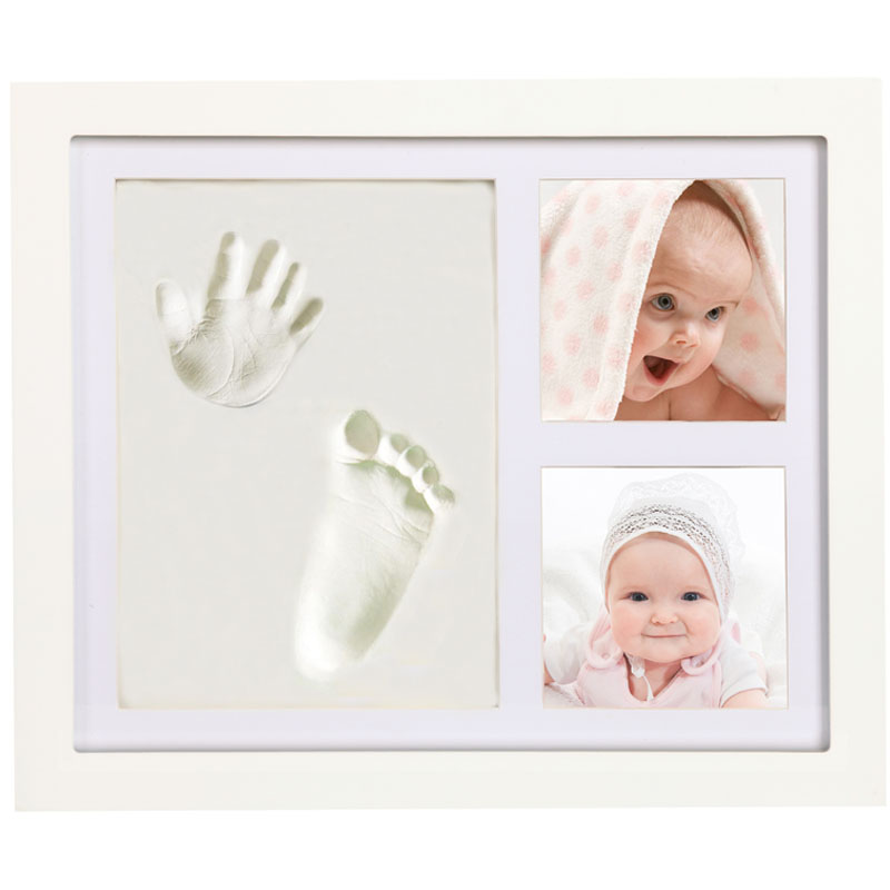 JOYBINO Baby Clay Handprint & Footprint Photo Frame Kit For Newborn ...